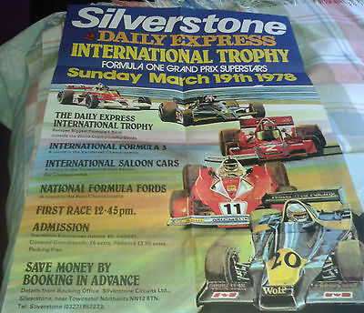 1978 Silverstone International Trophy Formula 1 race poster in mint condition