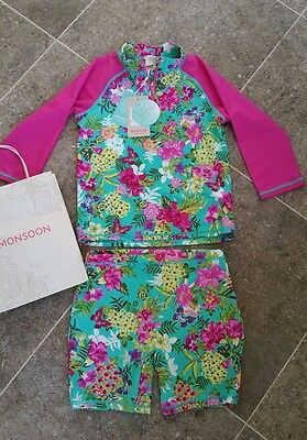 Monsoon UFP 40+ Sun Swim Suit Age 9-10 NEW WITH TAGS