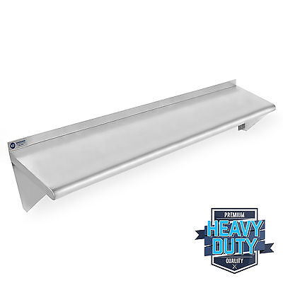 "OPEN BOX - Stainless Steel Kitchen Wall Shelf Restaurant Shelving - 18"" x 48"""