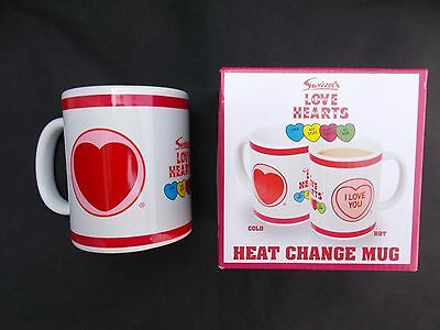 Love Hearts I Love You Heat Change Mug Ceramic Coffee Tea Cup Retro Gift