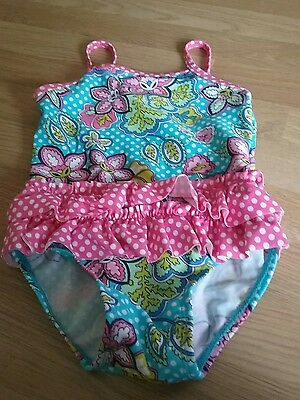 pink white multi paisley spot swimsuit 12 18 months baby girl mini club