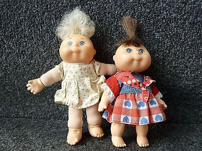 2 x Cabbage Patch Mini Dolls approx 4""