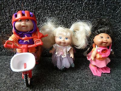 3 x Cabbage Patch Mini Dolls approx 3""