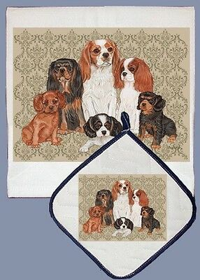 Dish Towel & Pot Holder - Cavalier King Charles Spaniel Group DP553