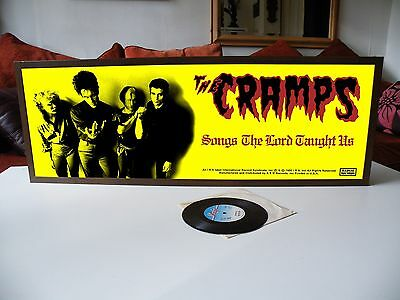 The Cramps Songs The Lord Taught Us Promo Poster Banner,garage,stay Sick,punk