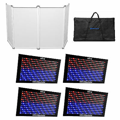 (4) Chauvet DJ ColorPalette LED Panel Stage DMX Wash Lights Color Palette+Facade