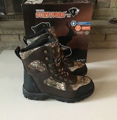 Herman Survivors REALTREE Xtra Waterproof Insulated Hunting Boots Camo Size 7 W