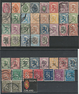 Finnland, kl. Lot gestempelet/used
