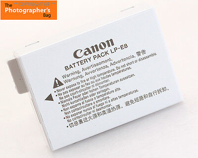 Canon LP-E8 Battery Pack for EOS 550D / 600D + Free UK Postage
