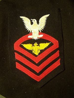 Original Wwii Usn  Gold Wings Aviation Chief Petty Officer / Pilot Sleeve Patch