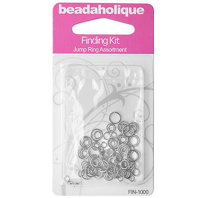 Silver Plated Findings Kit - Assorted Jump Rings 4-8mm 20-18 Gauge (125)