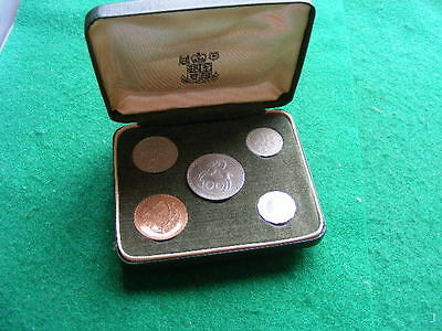 CYPRUS 5 Coin Set 1963 in Case as pictured