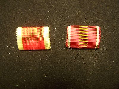 Original Two Vintage  Wwii  German Ribbon Bars Pinback