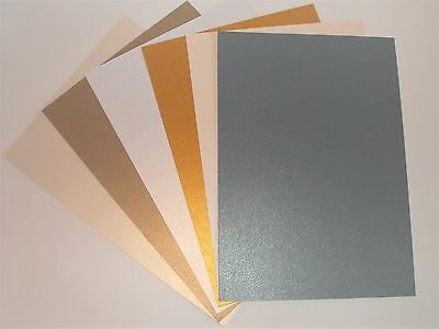 A4 Luxury Pearl Shimmer Double Sided Craft Paper(Choice of Colours & Quantity)
