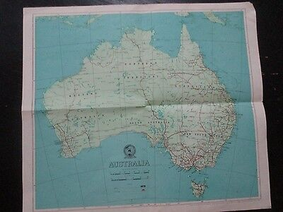 AUSTRALIA MAP, PUBLISHED BY THE DIV. OF NATIONAL MAPPING, AUSTRALIA,1961. cs4304