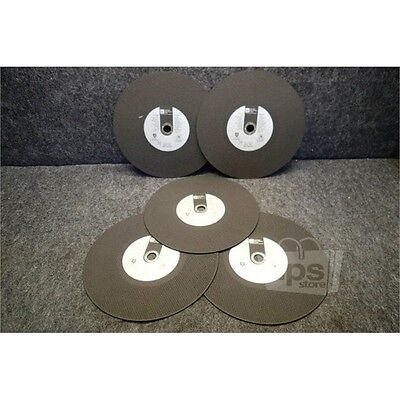 """Lot of 5 Detroit Industrial Tool 10197 Grinding Wheels, 14"""" D x 1/8"""" T x 1"""" A"""