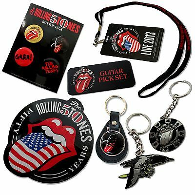The Rolling Stones 50Th Anniv 2013 7 Pc Collectible Gift Set New Official Merch