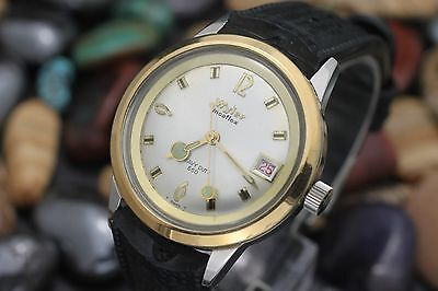 Vintage WYLER Heavy Duty 660 Two Tone 34.5mm Men's Diver's Watch SERVICED