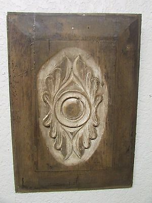 Antique Old Door Carved Panel --Mexican-Antique-Primitive-Vintage-14x20 in