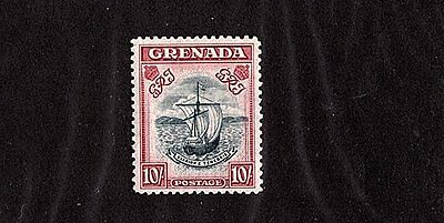 Grenada 1938 Seal Of Colony Ten Shilling Stamp Perf 12 Mint