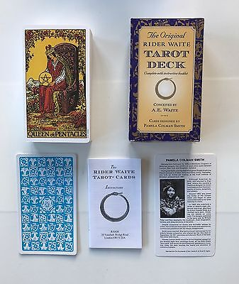 Rider Waite Original Tarot Cards NEW & SEALED ++FREE VELVET POUCH INCLUDED++