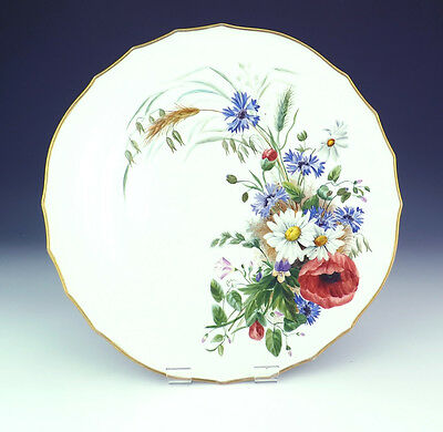 Antique Meissen Porcelain - Hand Painted Flower Decorated Charger - Unusual!