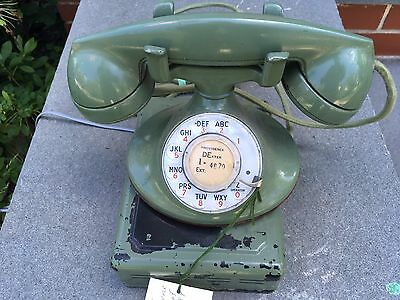 "Green Western Electric D-1/F1 ""Continental"" telephone w/ 684A subset"
