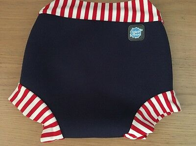 Splash About Happy Nappy Navy and Red  Swimming Nappy X Large UNISEX