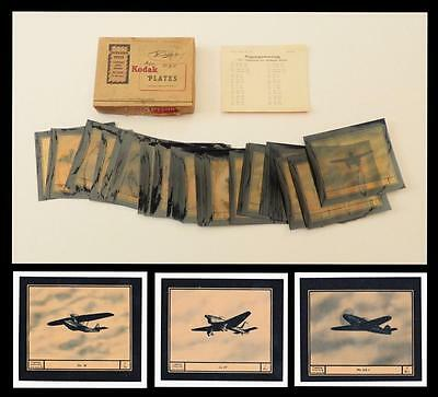1944 GERMAN WW2 - 67x AIRCRAFT RECOGNITION TRANSPARENCIES/ Slides_Germany/ Axis