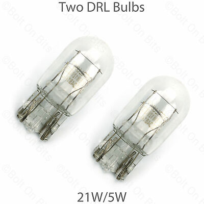 2 DRL Bulbs Lamps Vauxhall Astra GTC 2011 & later 12v21/5w Capless E2 217 Day