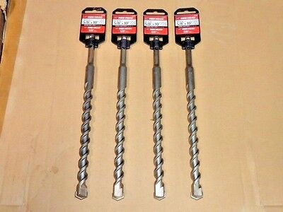 "Lot of 4 ITW Red Head 5/8"" x 10"" SDS-Plus Masonry Concrete Drill Bit 5/8 10 inch"