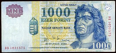 Hungary 1000 Forint 2002 Note !!!!!! Xf