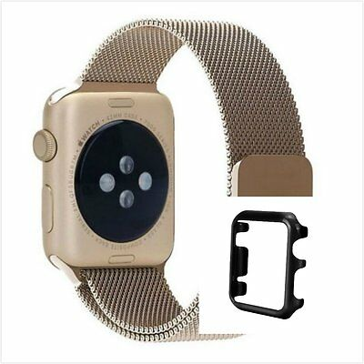 Bronze Milanese Stainless Metal Band Strap For Apple Watch 42mm Metal Case