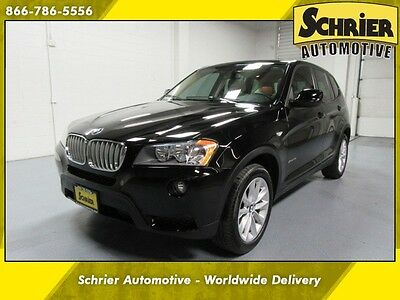 2013 BMW X3 xDrive28i Sport Utility 4-Door 13 BMW X3 AWD Black USB Auxiliary Cargo Cover Dual Climate Control Heated Seats