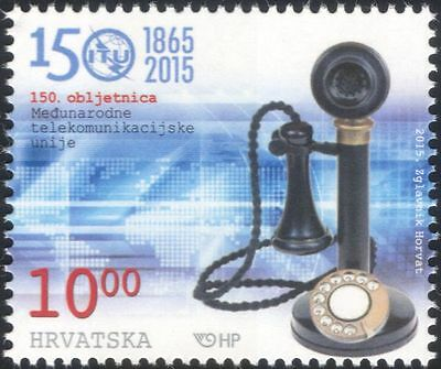 Croatia 2015 ITU-UIT 150th Anniv./Communications/Telecomms/Telephone 1v (n44789)