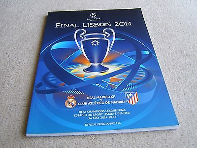 2014 Champions League Final Official Programme Real Madrid v Athletico Madrid