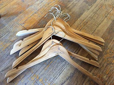 Lot of 10  commercial Vintage Wood Wooden clothes  Hangers