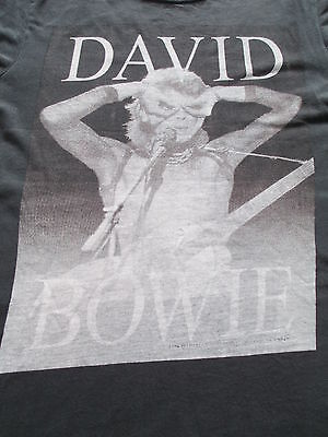 David Bowie Labyrinth Movie Black Brown White T Shirt Size XS X-Small S Small