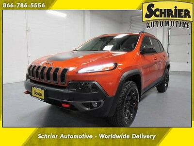 2015 Jeep Cherokee  15 Jeep Cherokee 4WD Mango Orange Remote Start 3.2L 6 Cyl