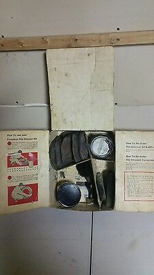 vintage rare 1940's  1950's  1960's  firestone white wall tire glamour kit case