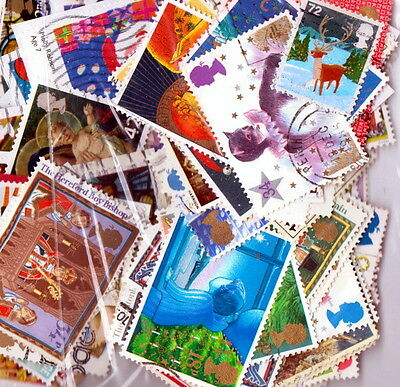 QEII  100 different Xmas stamps used (j449)