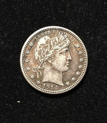 1914-D 25C Barber Quarter - Exceptional Coin, Full Liberty!!!!!