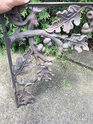 Cast Iron Acorn Corbel Antique Victorian Shelf Spandrel  Architectural Salvage