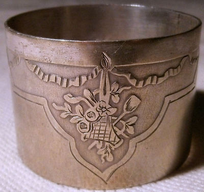 French Silver Plated Ornate Napkin Ring