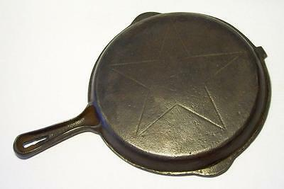 """LODGE ~ Vintage Cast Iron (4 IN 1) 9.5"""" LID ONLY for DOUBLE STAR SKILLET"""