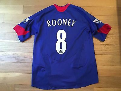 Maillot Rooney Manchester United England Jersey Shirt Ancien Vintage