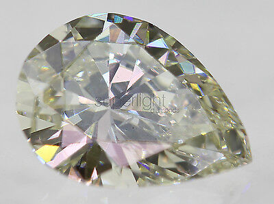 Certified 0.65 Carat I Color VS2 Pear Natural Loose Diamond 7.23x5.42m VG VG