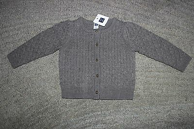 Janie and Jack Baby Girls Gray Sweater - Size 12-18 Months - NWT