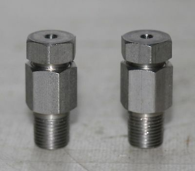 "(2 Lot) 1/8"" Tube X 1/8"" MNPT Stainless  Steel Male Compression Fitting"