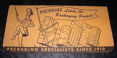 1955 Puchkoff Packaging Specialists Notebook with Calendar Brooklyn New York